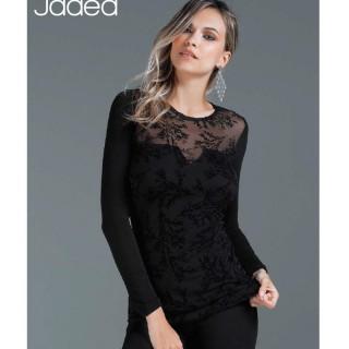 Jadea Maglia sottogiacca in cotone elasticizzato sexy trasparenza ART.4868
